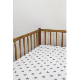 Cot/Crib sheet- Small Star (Grey)