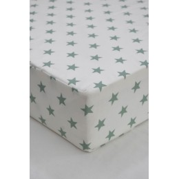 Cot/Crib sheet- Small Star (Mint)