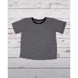Half Sleeve T-Shirt Black/White Stripped