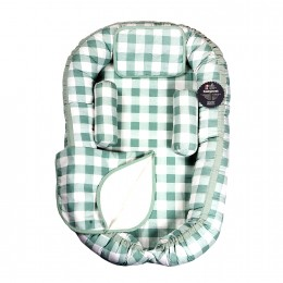 Mint Gingham Baby Nest