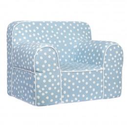 Kids Sofa - Blue Base white dot