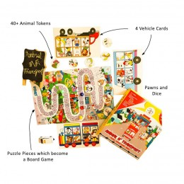 Animal N Transport - Puzzle, Boardgame and Bingo