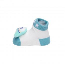 Baby Astronaut Green & Blue 3D Socks- 2 Pack