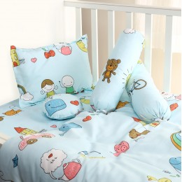 Baby Boys 5pc Quilted Bedding Set
