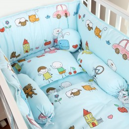 Baby Boys 6pc Quilt Set with Bumper