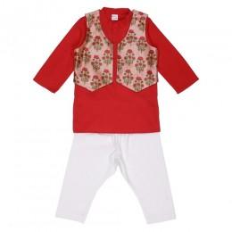 Cute Kurta Pyjama & Jacket Set