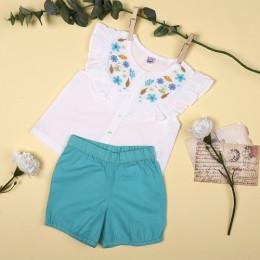Floral & Coral Girls Clothing Set