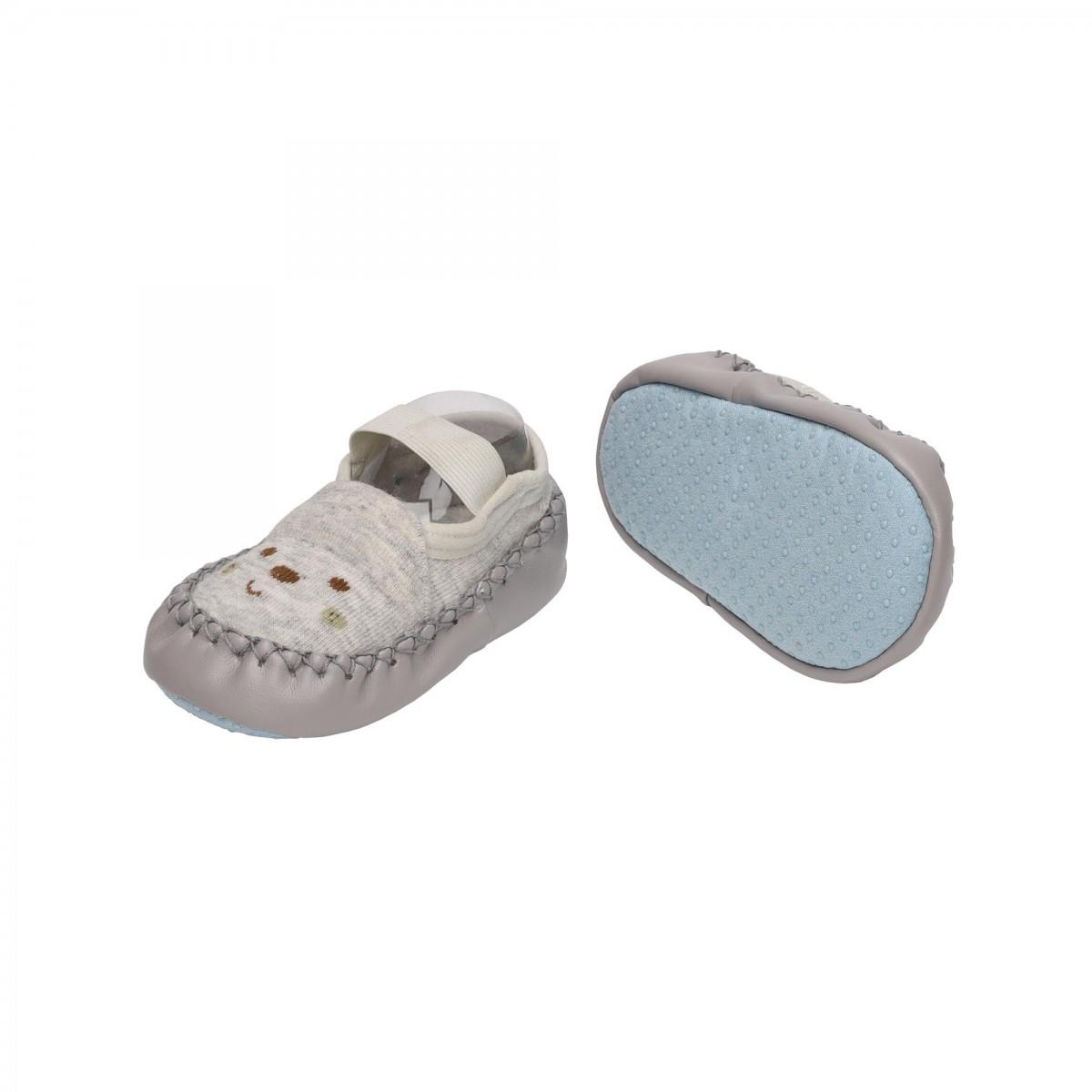 Happy Feet Grey & Blue Slip On Booties - 2 Pack