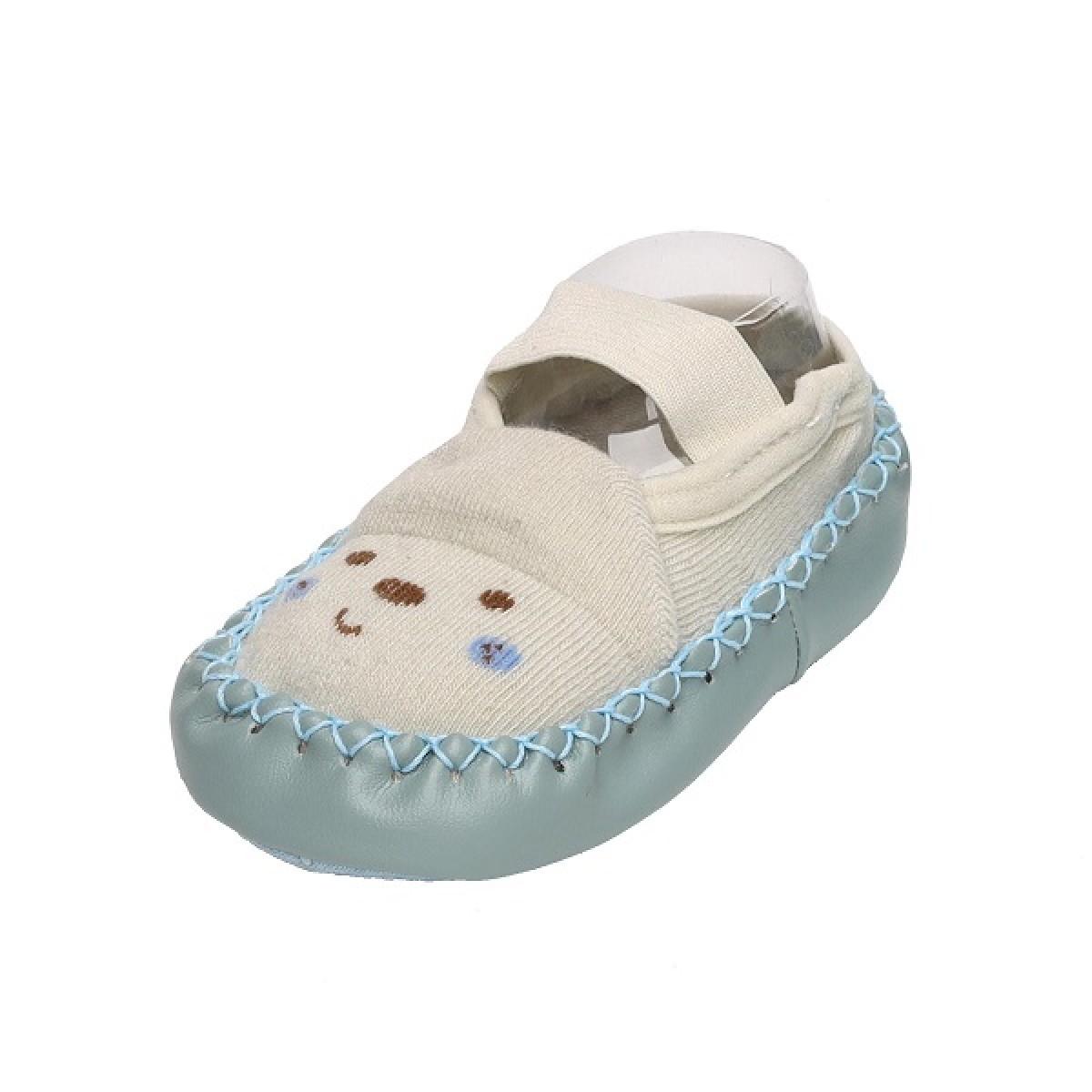 Happy Feet Pink & Blue Slip On Booties - 2 Pack