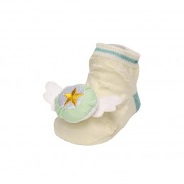 Magic Wings Cream & Yellow 3D Socks- 2 pack