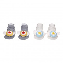 Magic Wings White & Grey 3D Socks- 2 pack