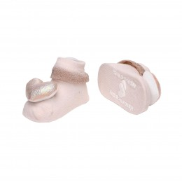 Pink & Blue Starry Hearts 3D Socks -2 Pack