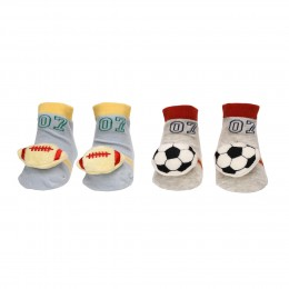 Sports Day Red & Blue 3D Socks- 2 pack