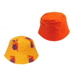 Yellow Snail Bucket Hat