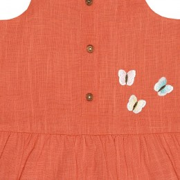 Beautiful Butterfly Coral Woven Top