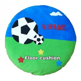 Blue Green Football Floor Cushion