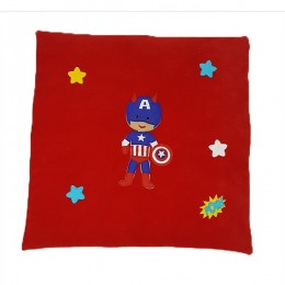 Captain America Boy Square Floor Cushion