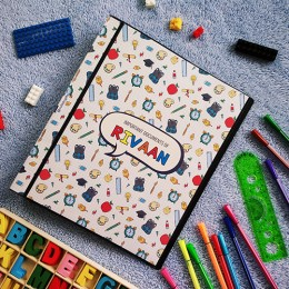 Document Binder File - Back To School Theme
