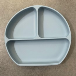 Silicon Suction Toddler Plate – Blue