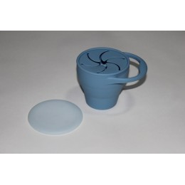 Baby & Toddler Silicon Snack Cup – Dusty Blue