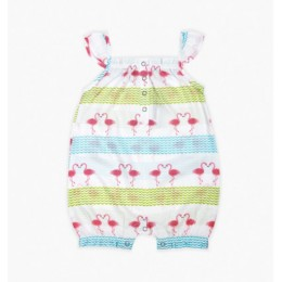 Flamingo Girl's Romper
