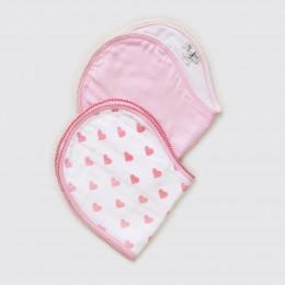 Hearts Burp Cloth and Bib Set