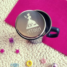 Insulated Steel Travel Mug - Cinderella Theme