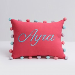 Pom Pom Pillow (Girl)
