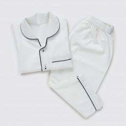 Men Classic White Pajama Set