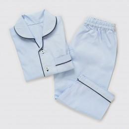 Men Sky Blue Pajama Set