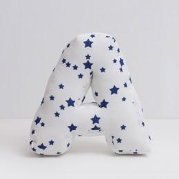 Navy Star Pillow