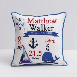 Nautical Birth Pillow