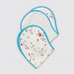Snuggle Bunny Organic Burp Cloth and Bib Set