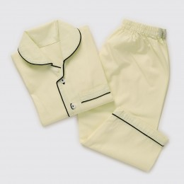 Men Sunshine Yellow Pajama Set