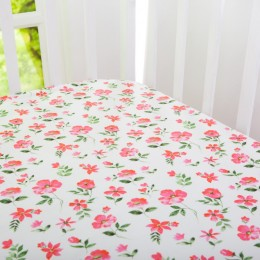Organic Blossms Crib Sheet