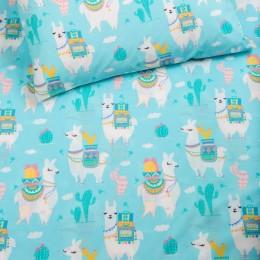 Organic Llama Love Crib Sheet