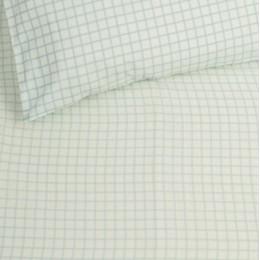 Organic Plaid Crib Sheet