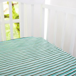 Organic Serengeti Stripes Crib Sheet