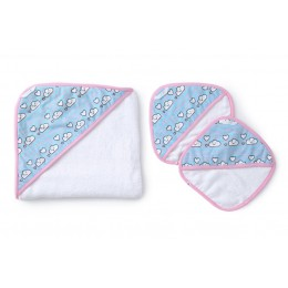CLOUDY DAY - BABY TOWEL SET