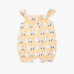 Panda Bear Girl's Romper