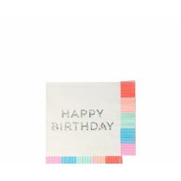 Birthday Fringe Small Napkins