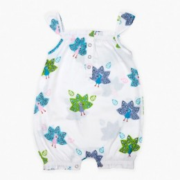 Peacock Girl's Romper