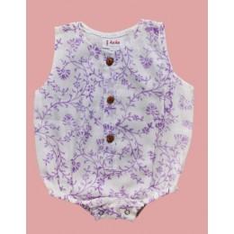 Pure Mulmul Lavender Onesie/ Romper