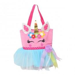Pink Blue Unicorn Tutu Bag