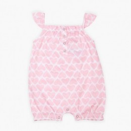 Pink Hearts Girl's Romper