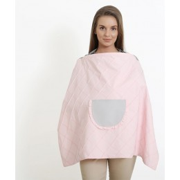 Pocket Squares Pink - Feeding Cover
