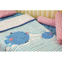 Puffy Whale - Bedding Set