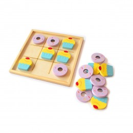 Wooden Tic Tac Toe (Dessert themed)