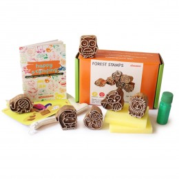 Forest Friends Wooden Stamps Set