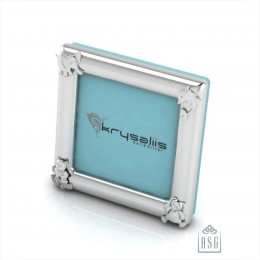 Silver Plated Photo Frame for Baby and Kids - Square with animal motifs